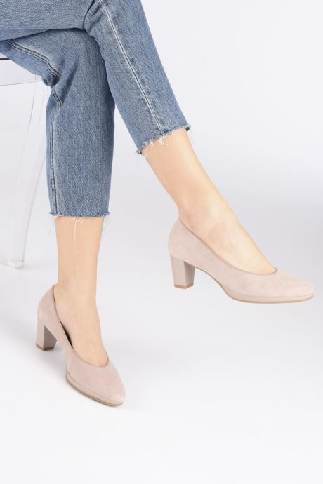 High heels Ara Orly Highsoft 13436 Pink view from underneath / model view