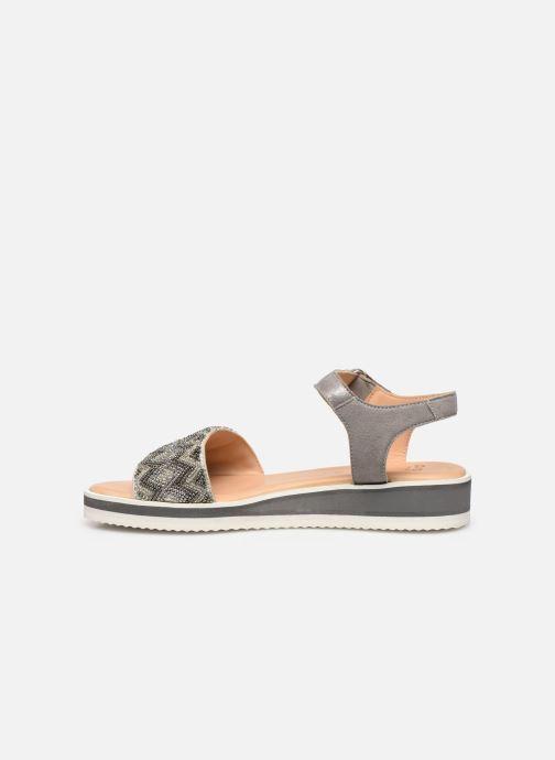 Sandales et nu-pieds Ara Durban Sport 14711 Gris vue face
