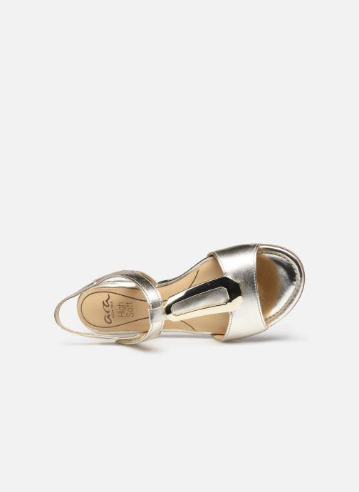 Sandales et nu-pieds Ara Vegas HighSoft 16839 Or et bronze vue gauche