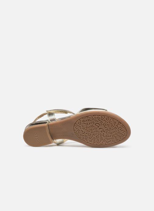 Sandales et nu-pieds Ara Vegas HighSoft 16839 Or et bronze vue haut