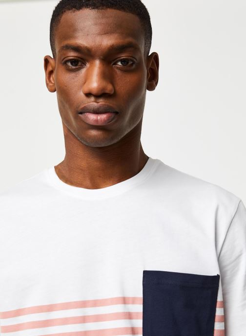 Vêtements Only & Sons Onsdel Mar SS Tee Blanc vue face