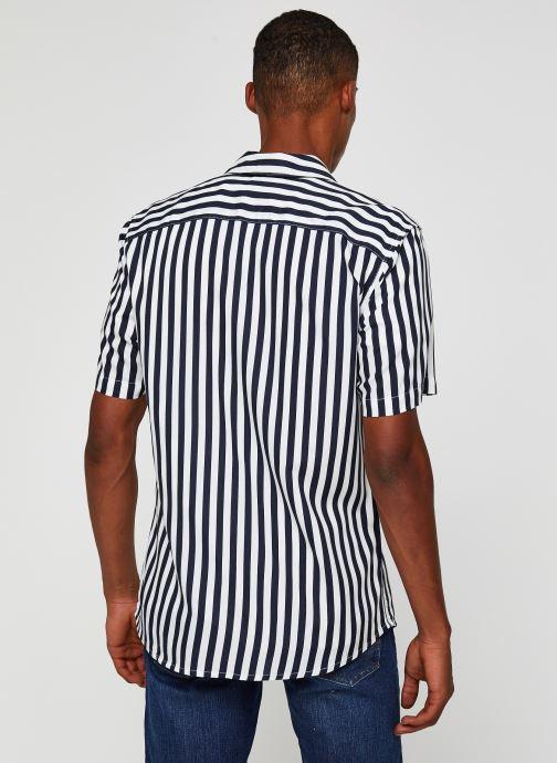 Vêtements Only & Sons Onswayne SS Shirt Blanc vue portées chaussures