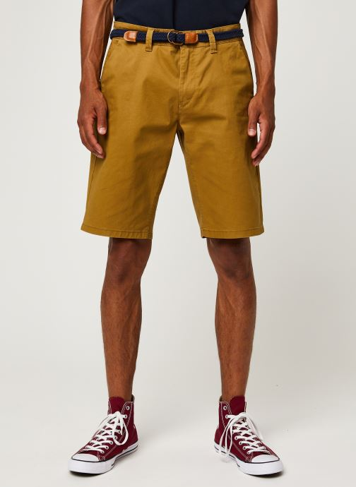 Kleding Only & Sons Onswill Chino Shorts Belt Clear Bruin detail