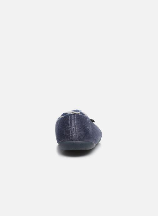 Chaussons Dim D Tendu C Bleu vue droite