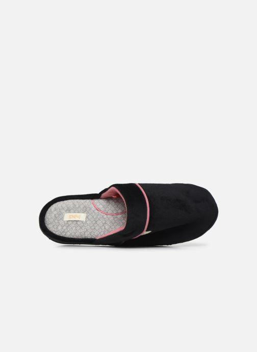 Pantuflas Dim D Taifac C Negro vista lateral izquierda