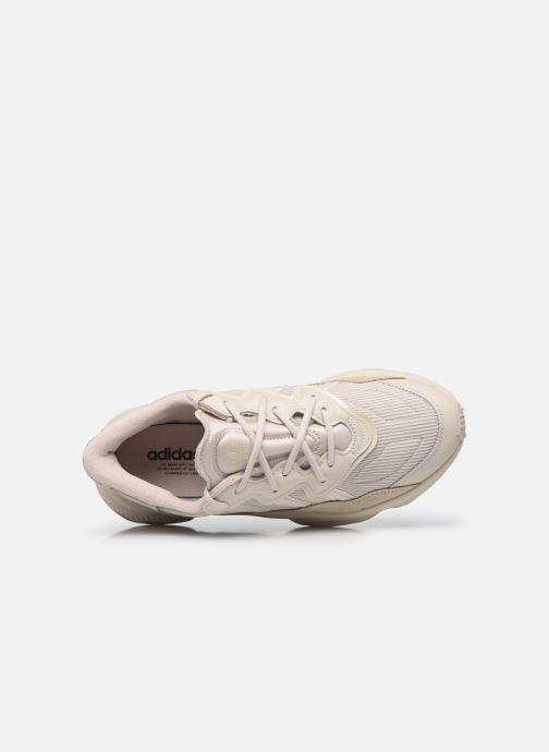 Sneaker adidas originals Ozweego beige ansicht von links
