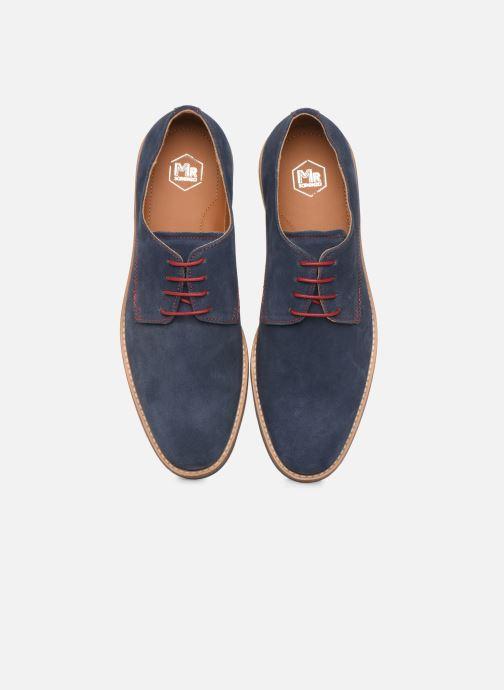 Zapatos con cordones Mr SARENZA Novala Azul vista del modelo