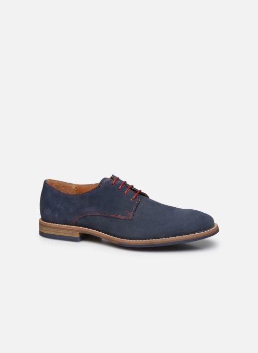 Zapatos con cordones Mr SARENZA Novala Azul vista lateral derecha