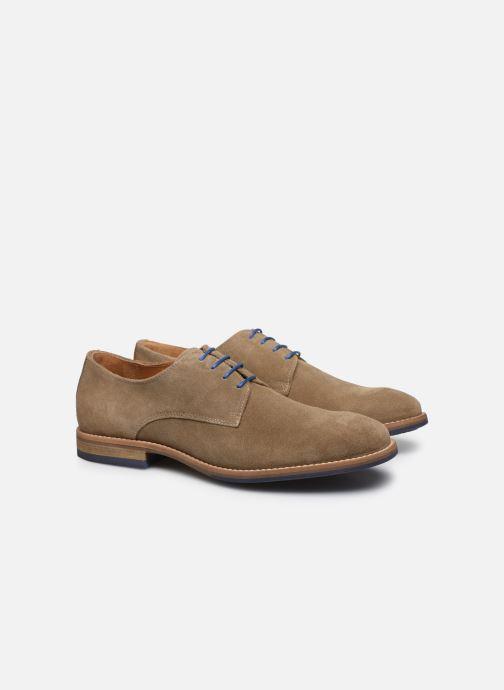 Zapatos con cordones Mr SARENZA Novala Beige vistra trasera