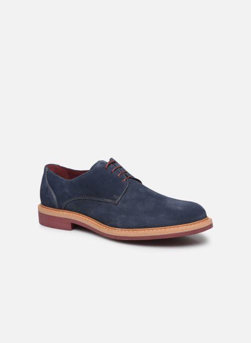 Zapatos con cordones Mr SARENZA Newvy Azul vista lateral derecha
