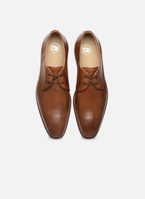 Zapatos con cordones Mr SARENZA Nourio Marrón vista del modelo