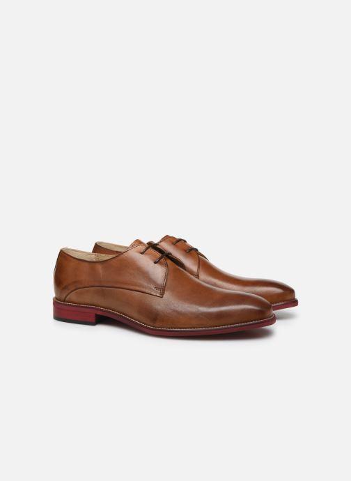 Zapatos con cordones Mr SARENZA Nourio Marrón vistra trasera
