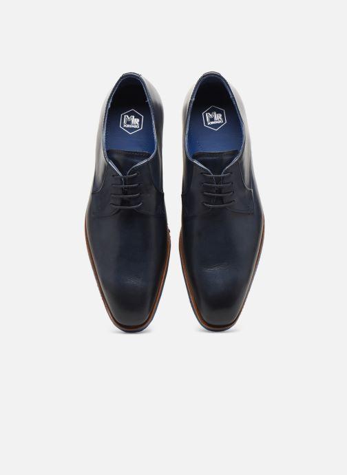 Zapatos con cordones Mr SARENZA Nimeli Azul vista del modelo