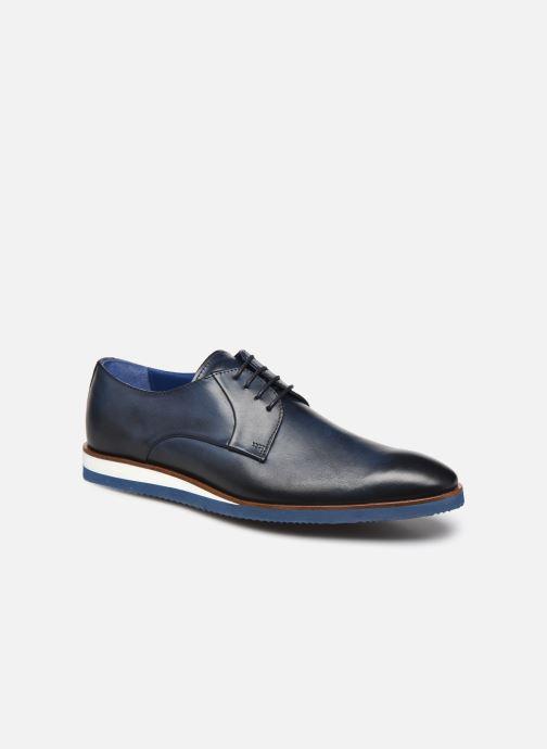 Zapatos con cordones Mr SARENZA Nimeli Azul vista lateral derecha