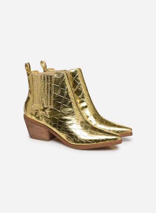 Bottines et boots Guess NEA Or et bronze vue 3/4