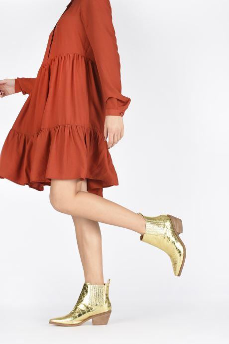 Bottines et boots Guess NEA Or et bronze vue bas / vue portée sac