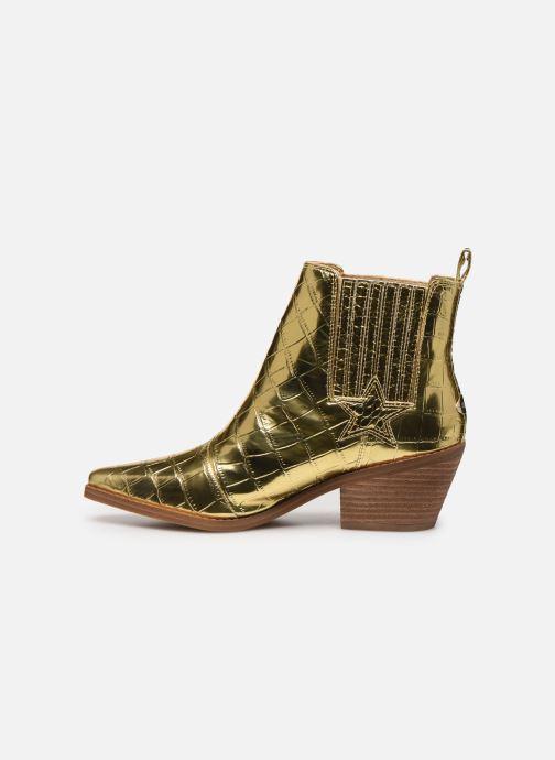 Bottines et boots Guess NEA Or et bronze vue face