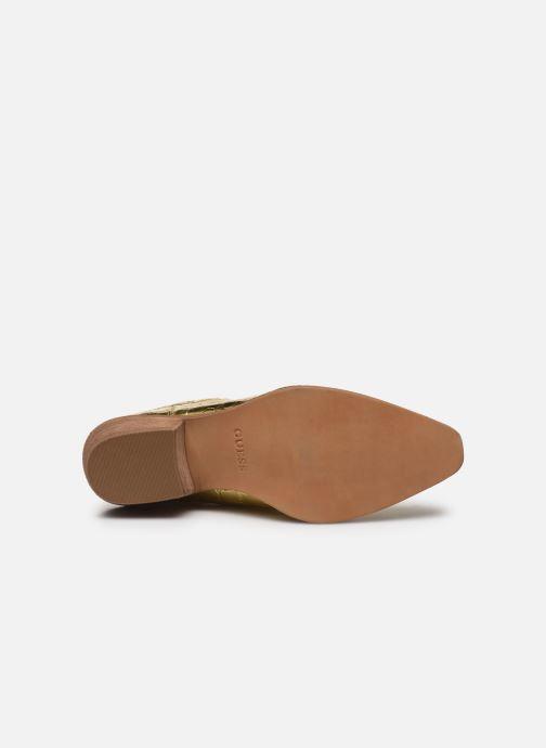 Bottines et boots Guess NEA Or et bronze vue haut