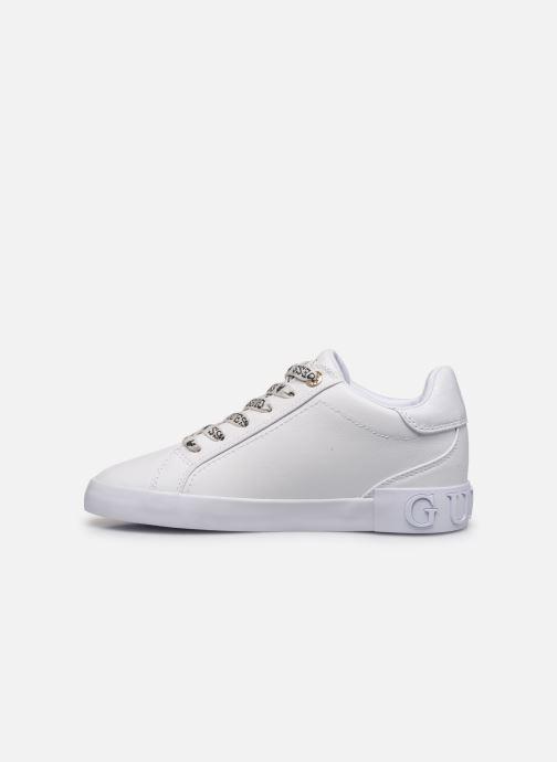 Sneaker Guess PUXLY weiß ansicht von vorne