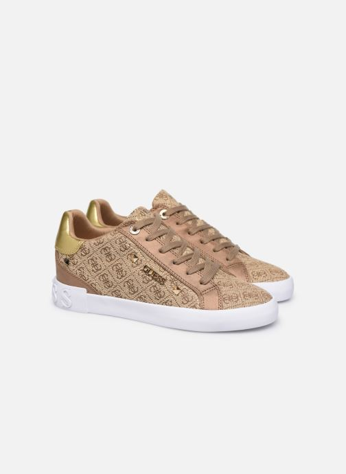 Baskets Guess PUXLY2 Beige vue 3/4