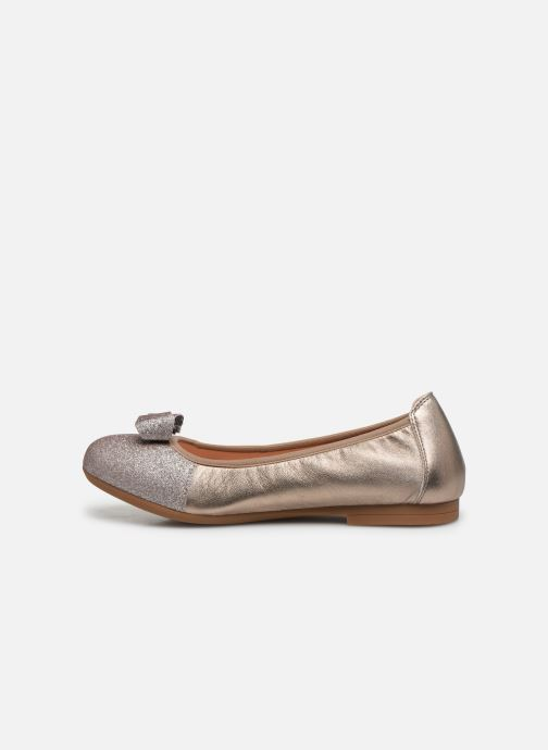 Ballet pumps Unisa Cory Silver front view