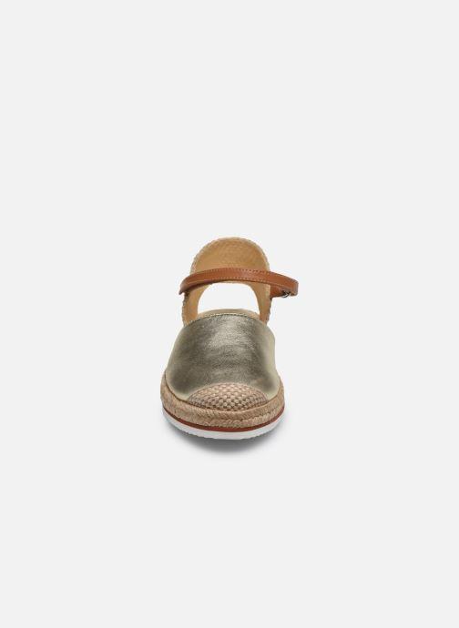 Espadrilles Unisa Yadira Or et bronze vue portées chaussures