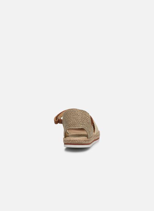 Alpargatas Unisa Yadira Oro y bronce vista lateral derecha