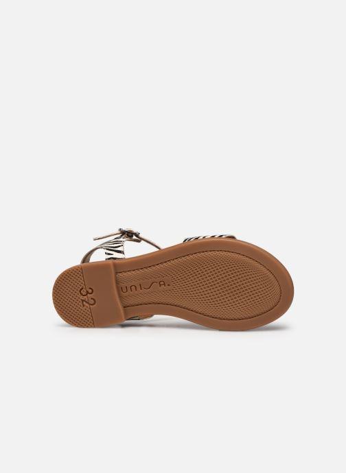Sandales et nu-pieds Unisa Lirita Blanc vue haut