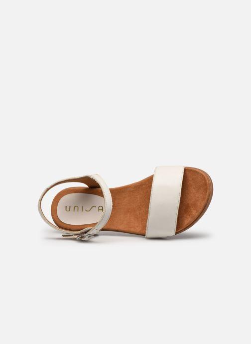 Sandales et nu-pieds Unisa Lirita Beige vue gauche