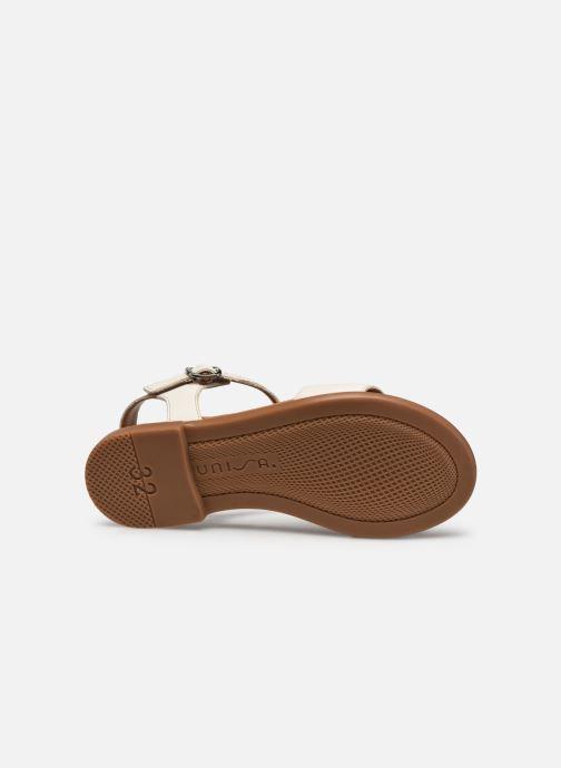 Sandales et nu-pieds Unisa Lirita Beige vue haut