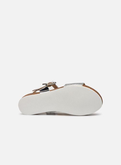Sandales et nu-pieds Unisa Makena Argent vue haut