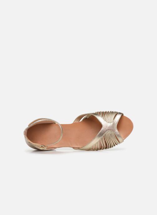 Sandalias Petite mendigote Achille Foil Oro y bronce vista lateral izquierda