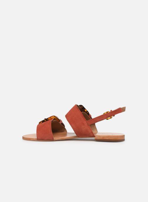 Sandales et nu-pieds Petite mendigote Delon Suede Rouge vue face