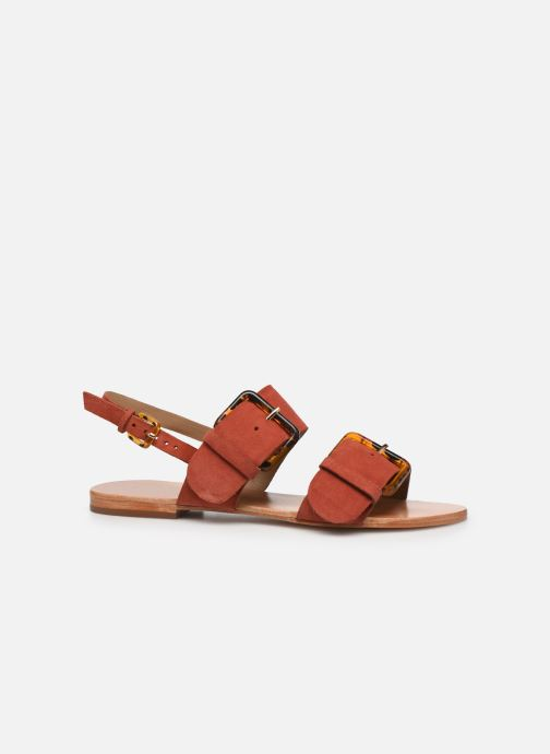 Sandales et nu-pieds Petite mendigote Delon Suede Rouge vue derrière