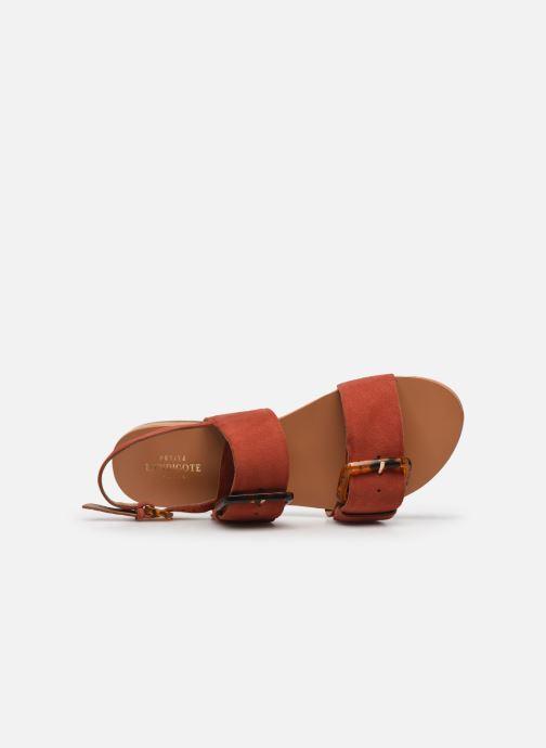 Sandales et nu-pieds Petite mendigote Delon Suede Rouge vue gauche