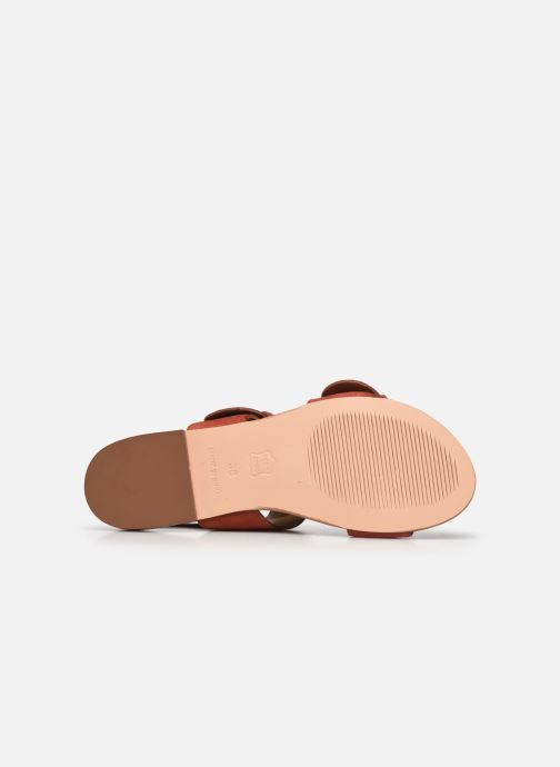 Sandales et nu-pieds Petite mendigote Delon Suede Rouge vue haut