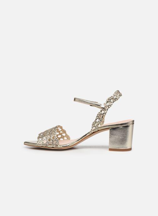 Sandales et nu-pieds Petite mendigote Lelio Foil Or et bronze vue face