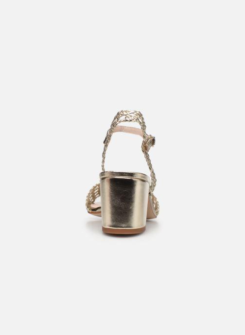 Sandales et nu-pieds Petite mendigote Lelio Foil Or et bronze vue droite