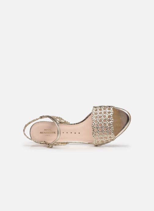 Sandales et nu-pieds Petite mendigote Lelio Foil Or et bronze vue gauche