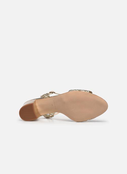 Sandales et nu-pieds Petite mendigote Lelio Foil Or et bronze vue haut