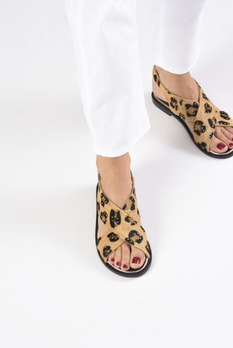 Sandales et nu-pieds Petite mendigote Luigi Hair On Beige vue bas / vue portée sac