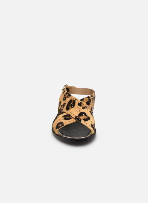 Sandales et nu-pieds Petite mendigote Luigi Hair On Beige vue portées chaussures