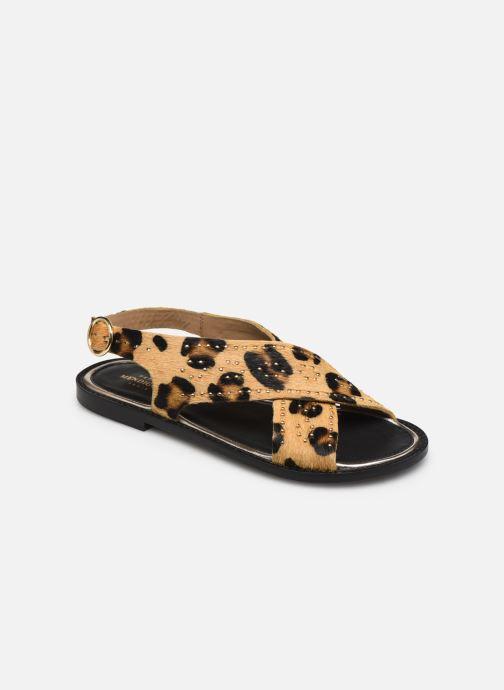 Sandales et nu-pieds Petite mendigote Luigi Hair On Beige vue détail/paire