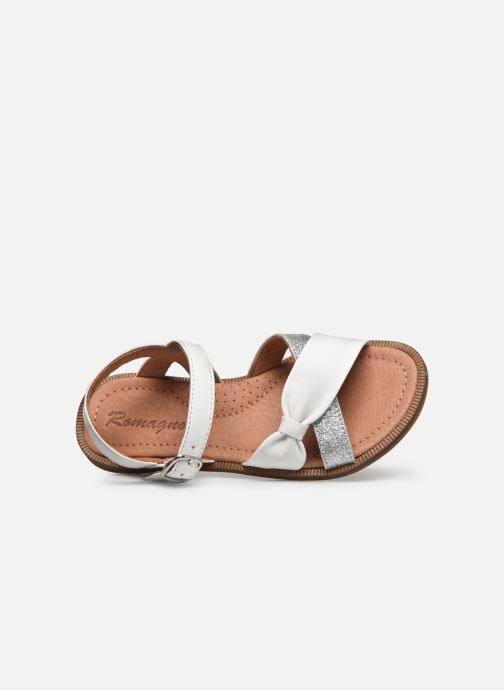 Sandals Romagnoli Sandales 5767 White view from the left