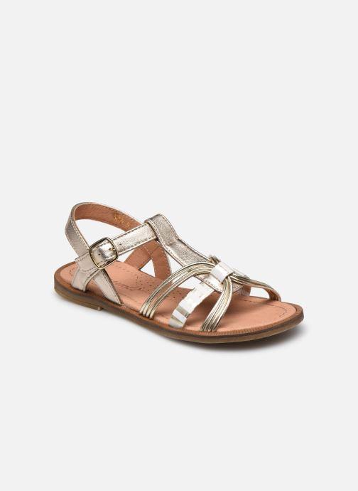 Sandales et nu-pieds Romagnoli Sandales 5759 Or et bronze vue détail/paire