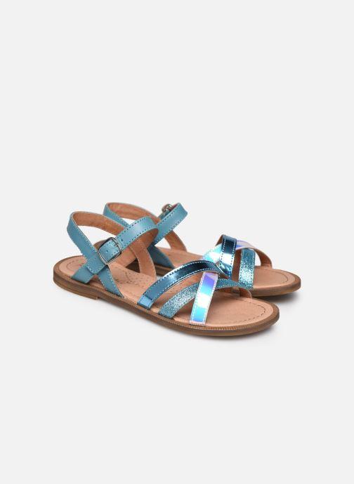 Sandales et nu-pieds Romagnoli Sandales 5758 Bleu vue 3/4