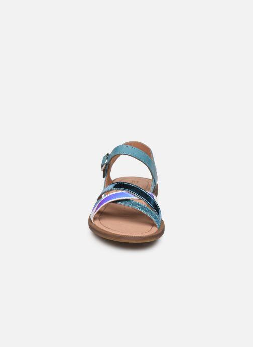 Sandales et nu-pieds Romagnoli Sandales 5758 Bleu vue portées chaussures