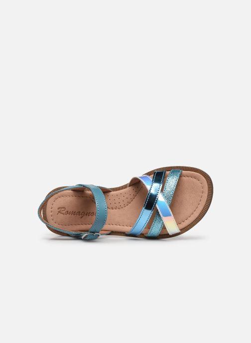 Sandales et nu-pieds Romagnoli Sandales 5758 Bleu vue gauche