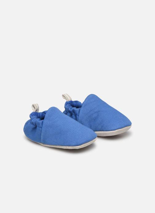 Chaussons Poco Nido Plain Delft Blue Mini Shoe Bleu vue 3/4