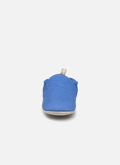 Chaussons Poco Nido Plain Delft Blue Mini Shoe Bleu vue portées chaussures